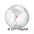 Outline Map of Las Violetas, rectangular outline