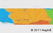 Political Panoramic Map of La Pedrera