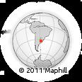 Outline Map of Cardona, rectangular outline