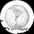 Outline Map of Venado Tuerto, rectangular outline