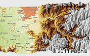 """Physical 3D Map of the area around 33°42'13""""S,70°28'29""""W"""