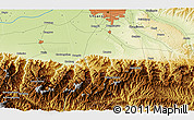 """Physical 3D Map of the area around 34°0'57""""N,108°52'30""""E"""