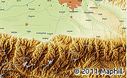 """Physical Map of the area around 34°0'57""""N,108°52'30""""E"""
