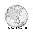 """Outline Map of the Area around 34° 0' 57"""" N, 108° 52' 30"""" E, rectangular outline"""
