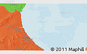 Political 3D Map of Gabès