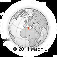 Outline Map of Gabès, rectangular outline