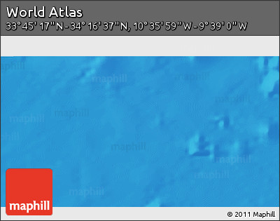 """Shaded Relief 3D Map of the Area around 34°0'57""""N,10°7'30""""W"""