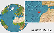 """Satellite Location Map of the area around 34°0'57""""N,10°7'30""""W"""