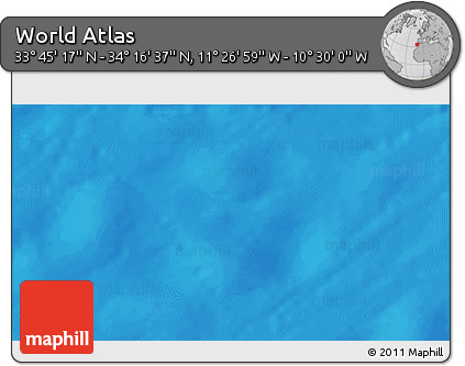 """Shaded Relief 3D Map of the Area around 34°0'57""""N,10°58'29""""W"""