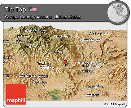 Satellite Map Of Arizona.Free Satellite Panoramic Map Of Tip Top