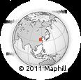Outline Map of Huaibei, rectangular outline