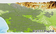 """Physical 3D Map of the area around 34°0'57""""N,118°4'29""""W"""