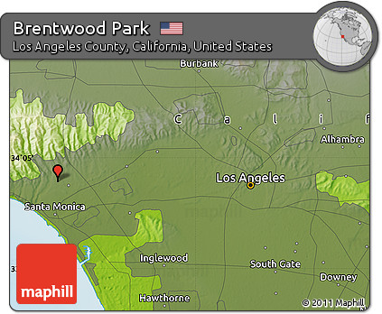 Free Physical Map Of Brentwood Park