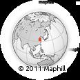Outline Map of Wangji, rectangular outline