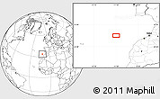 """Blank Location Map of the area around 34°0'57""""N,11°49'29""""W"""