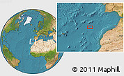 """Satellite Location Map of the area around 34°0'57""""N,11°49'29""""W"""