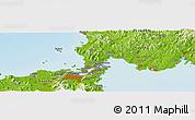Physical Panoramic Map of Shimonoseki
