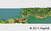 Satellite Panoramic Map of Shimonoseki