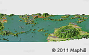 "Satellite Panoramic Map of the area around 34° 0' 57"" N, 132° 40' 30"" E"