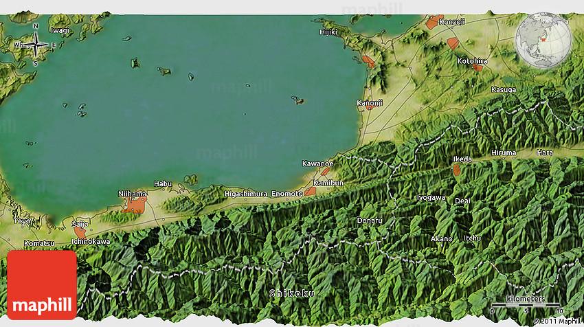 Satellite D Map Of Niihama - Niihama map