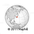 Outline Map of Totsukawa, rectangular outline