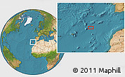 """Satellite Location Map of the area around 34°0'57""""N,13°31'30""""W"""