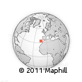 """Outline Map of the Area around 34° 0' 57"""" N, 13° 31' 30"""" W, rectangular outline"""
