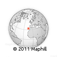 """Outline Map of the Area around 34° 0' 57"""" N, 14° 22' 30"""" W, rectangular outline"""