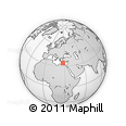 """Outline Map of the Area around 34° 0' 57"""" N, 27° 16' 29"""" E, rectangular outline"""