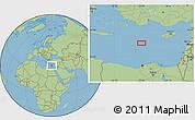 "Savanna Style Location Map of the area around 34°0'57""N,29°49'30""E"
