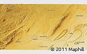 Physical 3D Map of Laghouat
