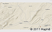 Shaded Relief 3D Map of Laghouat