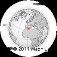 Outline Map of Laghouat, rectangular outline
