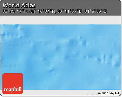 """Shaded Relief 3D Map of the Area around 34°0'57""""N,30°40'29""""E"""