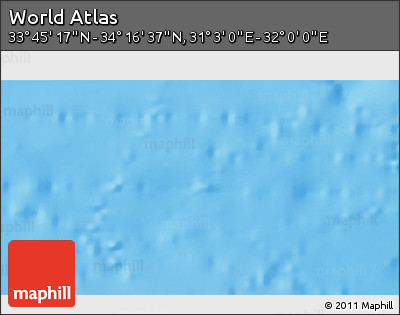 """Shaded Relief 3D Map of the Area around 34°0'57""""N,31°31'29""""E"""