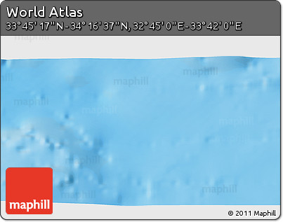 """Shaded Relief 3D Map of the Area around 34°0'57""""N,33°13'30""""E"""