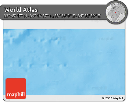 """Shaded Relief 3D Map of the Area around 34°0'57""""N,34°4'30""""E"""
