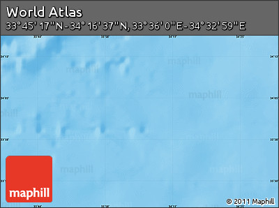 """Physical Map of the Area around 34°0'57""""N,34°4'30""""E"""