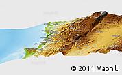 Physical Panoramic Map of Beirut