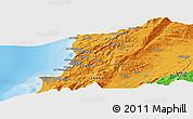 Political Panoramic Map of Beirut