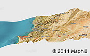 Satellite Panoramic Map of Beirut