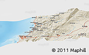 Shaded Relief Panoramic Map of Beirut