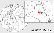 Blank Location Map of Sāmarrā'