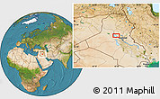 Satellite Location Map of Sāmarrā'
