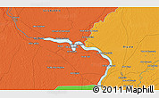 Political 3D Map of Bint al Ḩasan