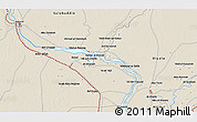 Shaded Relief 3D Map of Bint al Ḩasan