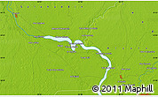 """Physical Map of the area around 34°0'57""""N,44°16'29""""E"""