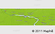 """Physical Panoramic Map of the area around 34°0'57""""N,44°16'29""""E"""