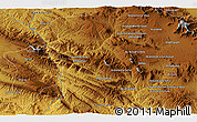 """Physical 3D Map of the area around 34°0'57""""N,47°40'29""""E"""