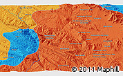 """Political 3D Map of the area around 34°0'57""""N,47°40'29""""E"""